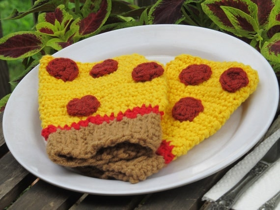 pepperoni pizza hand warmers-made to order