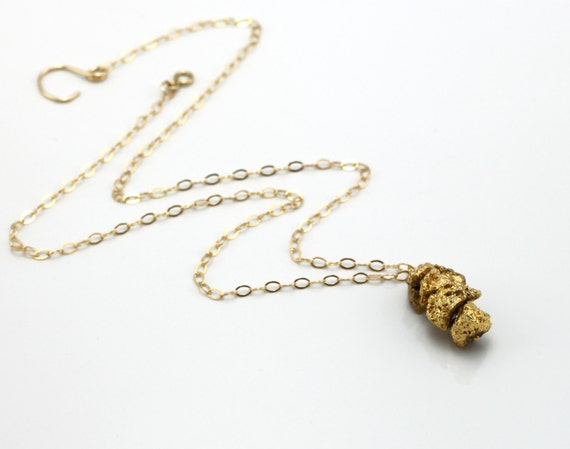 pyrite necklace yellow gold jewelry fool 39 s gold nuggets