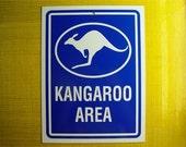 Kangaroo Sign - Kangaroo Area Blue