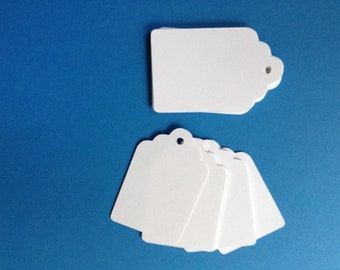 50 Die Cut Tags - 2 inch Blank Tags with holes