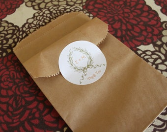Wedding Favor Gift Bags with Garland and Initial