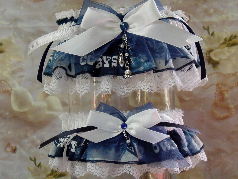 Dallas Cowboys Wedding Garter Set