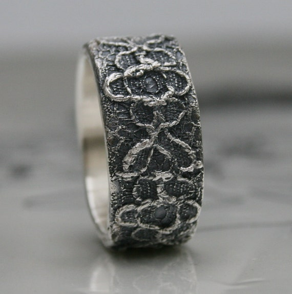 Lacey no 12 - sterling silver lace ring -  made to order in your size