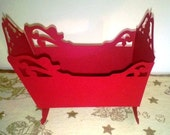 DIY 3D cradle favor box set of six