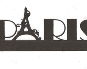 Paris with Eiffel tower headline or napkin ring
