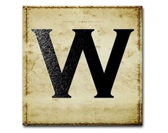 Letter W, Monogram W, Initial W