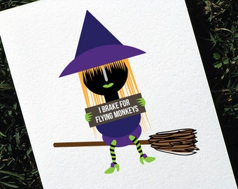 Funny Halloween Card Wizard of Oz Witch