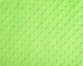 """Dark Lime Cuddle Dimple/ Dot Minky (Minkee), Cuddle Dimple by Shannon Fabrics, Remnant 17"""" x 33"""""""