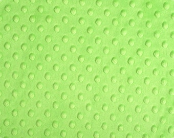 Dark Lime Cuddle Dimple/ Dot Minky (Minkee), Cuddle Dimple by Shannon Fabrics