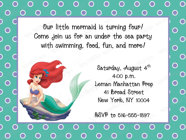 Free Printable Little Mermaid Birthday Invitations was perfect invitations ideas