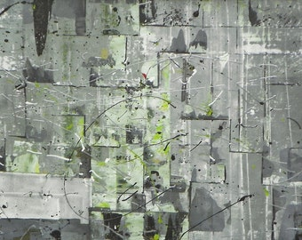 Now on sale 229.00 was 295.    Original Abstract large 30 inch x 22 inch large original  Fresh Greens