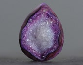 Purple Banded Agate Druzy Gemstone with Icy Crystals - 25mm (2824)