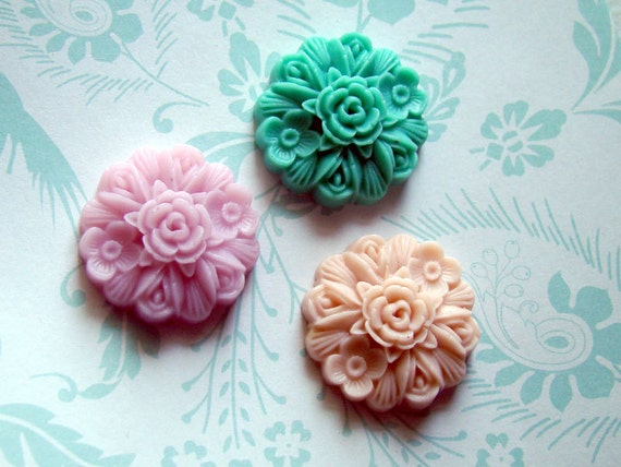Cute Magnets, Shabby Chic Magnets, Pretty Fridge Magnets, Strong Magnets