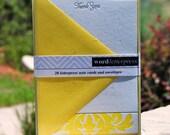 Letterpress Brocade Thank You Notes - set of 20