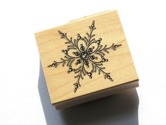 Snowflake Rubber Stamp from Inkadinkado  // Brand New