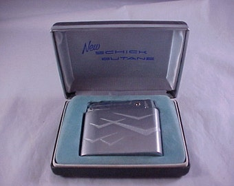 Schick Butane Cigarette Lighter In Original Case