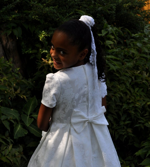 Flower girl dress First Communion Dress Size 8 ready to ship Custom available