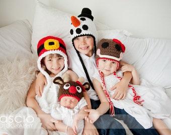 Holiday Value Pack Patterns - Santa, Reindeer, Gingerbread Man & Snowman - Instant Download Crochet Patterns