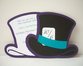 Alice in Wonderland-Mad Hatter Invitation - Pack of 10