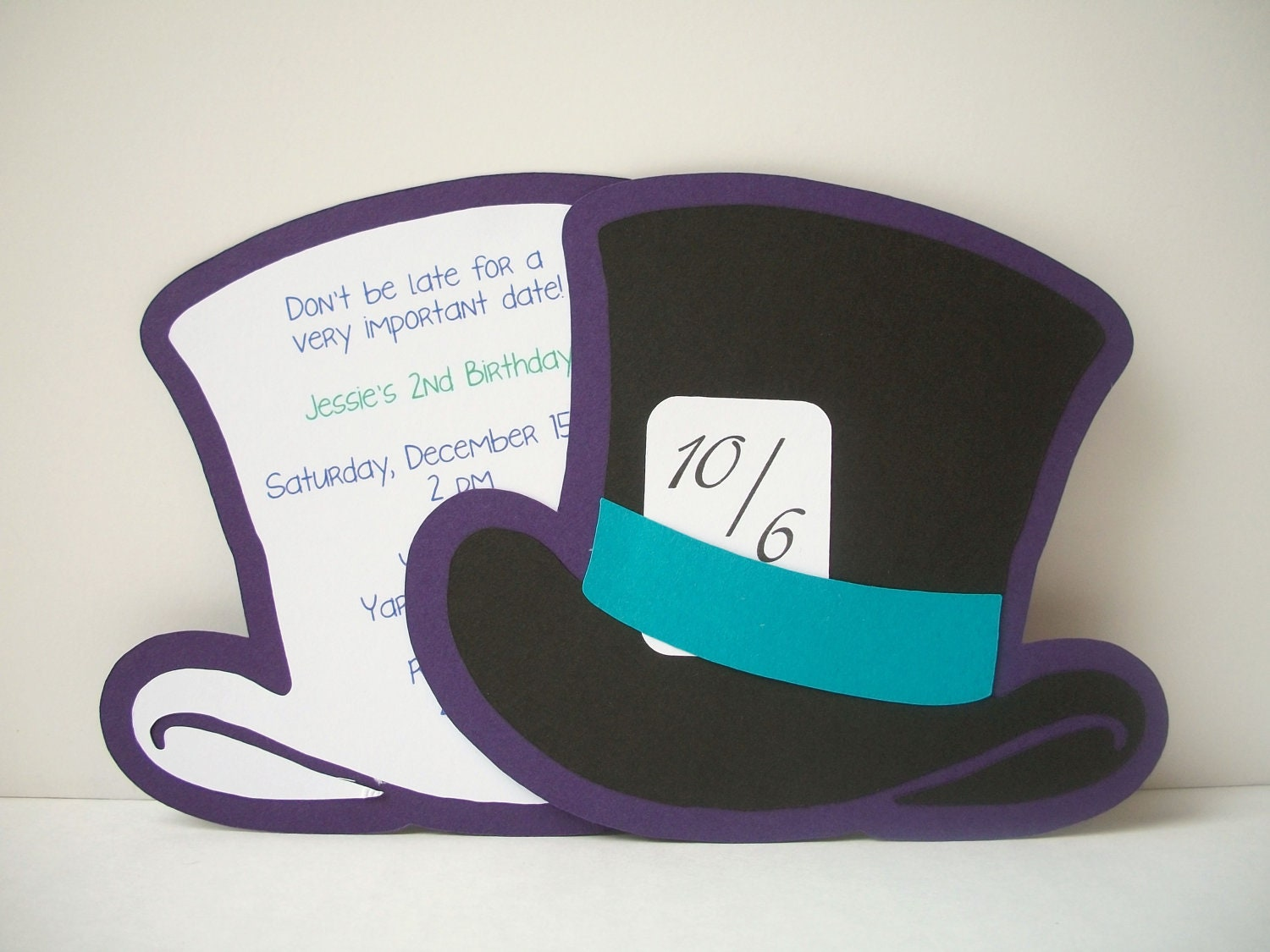 Images Of Mad Hatter Hat Invitation Spacehero