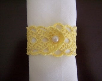 crochet  napkin rings 2 pieces