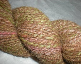 Handspun Alpaca Wool Yarn light worsted weight Garden Path 170 yds.