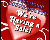 5 Bracelets made on stretchy cord - Mystery surprise package