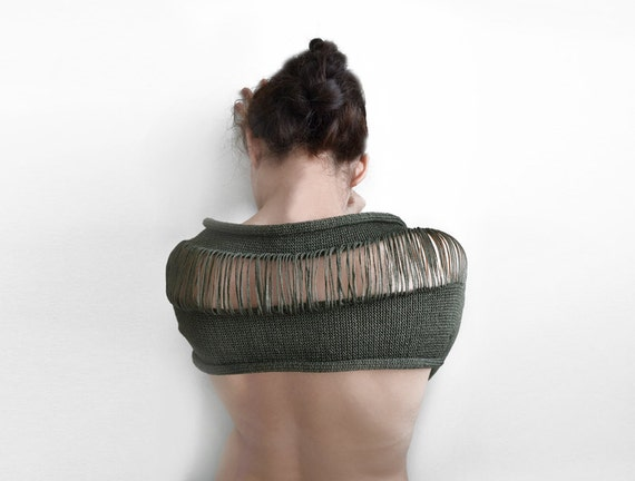 green okapi shrug, Paris fashion