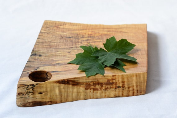 Discounted, Rustic Cutting Board, Natural Edge Salvaged Wood 682, Ready to Ship