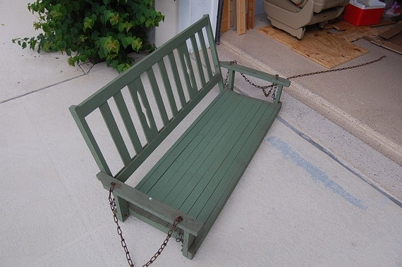 Reserved for Mollie....Front Porch Swing in Sage Green Cottage Prairie Style at Retro Daisy Girl