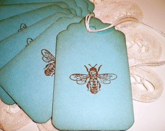 Bee Gift Tags,  Turquoise Bee Wish Tree , Pricing , Favor Tags