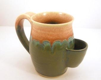 Tea Drinkers Sidekick Mug, 'Rose Water' Design, Tea Bag Pouch, Cup - Made to Order