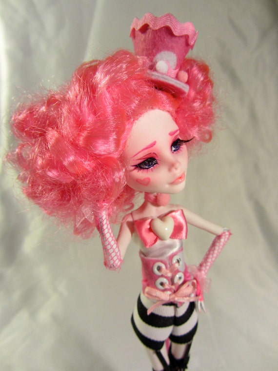 Reserved for Maryann-Custom Cotton Candy Carnivale Cupid - MH doll repaint and hand made outfit by Wicked Paper Dolls OOAK
