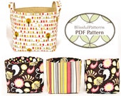 Easy to Sew Fabric Bin PDF Sewing Pattern - two sizes -INSTANT DOWNLOAD - by BlissfulPatterns