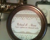 Personalized Wedding Favor -4 oz Soy Wax Candle Jar