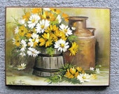 Vintage Country Daisies Plaque