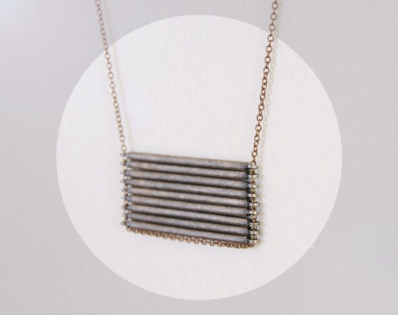 LAST ONE Stacked Bar Necklace