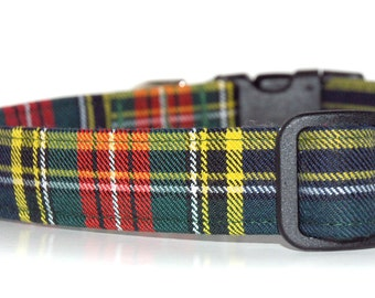 Tartan Dog Collar,,,,,,, MacBeth , Authentic Scottish Tartan Dog Collar