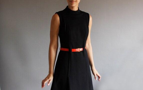 1960's black mod dress