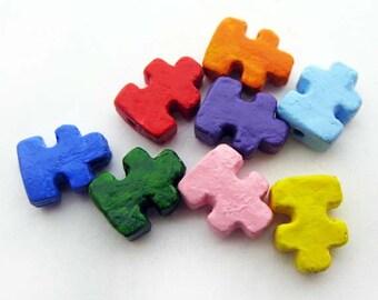 20 Tiny Puzzle Beads