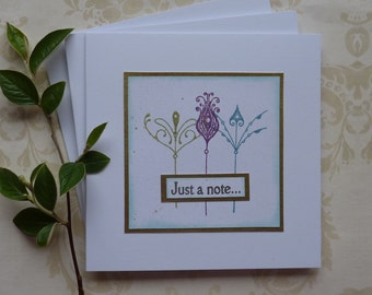 GREETINGS cards, Notecards 'Art Nouveau' ( pack of 3  )..ready to ship..UK seller....