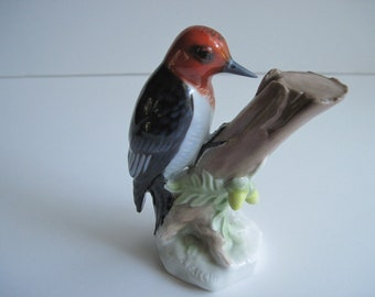 Rosenthal Figurine Woodpecker, Rare Aldo Falchi, 1959