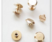 60sets 9mm x 6mm Golden screws rivets Chicago screw/Concho screw