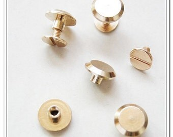 20sets 11mm x 6mm Golden screws rivets Chicago screw/Concho screw
