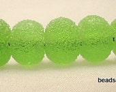 juicy lime drops  Handmade lampwork glass beads  FHF  SRA