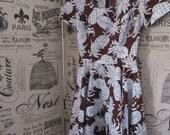 Vintage Rockabilly Tiki Pineapple print Full Skirt swing Dress Square dance