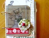 Merry Christmas Mixed Media Art Journal Kit filled with pretty colors, rich textures, and Holiday cheer
