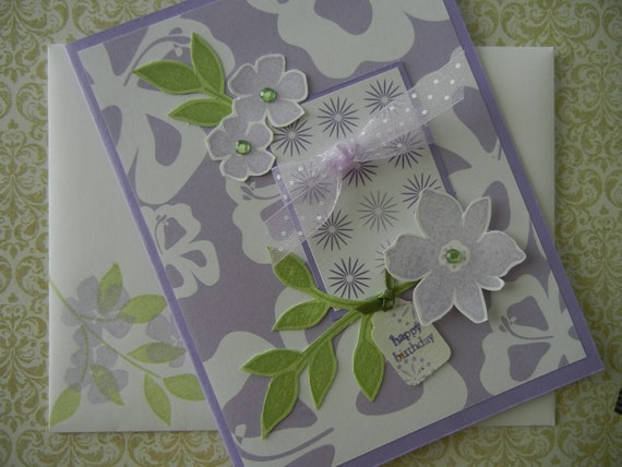 Lovely Lavender Lace Birthday Card