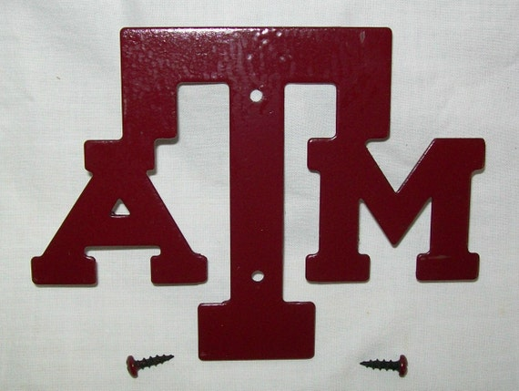 Items Similar To Texas A Amp M Aggie Metal Cut Out Plaque Logo