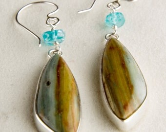 Petrified Bogwood Earrings
